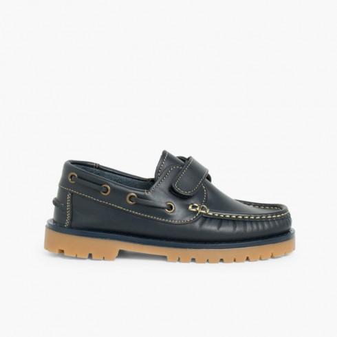 Chaussures bateau pour Garçon avec Scratch