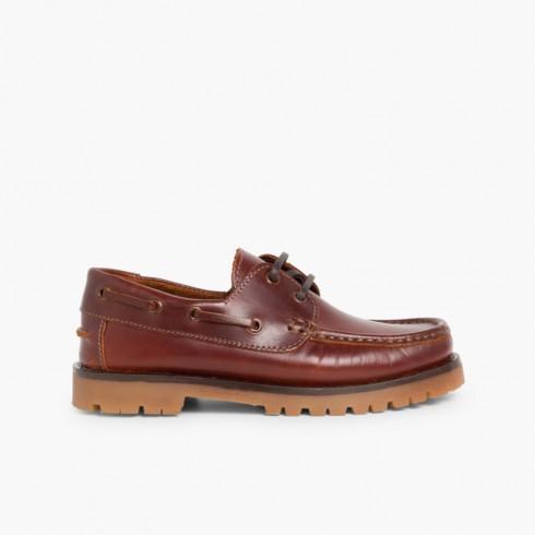 Chaussures Bateaux Garçon à Lacet