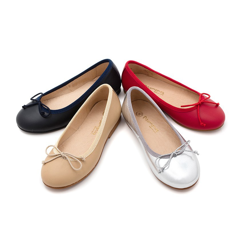 ballerines fille en cuir ballerines c r monie chaussure en ligne pisamonas. Black Bedroom Furniture Sets. Home Design Ideas