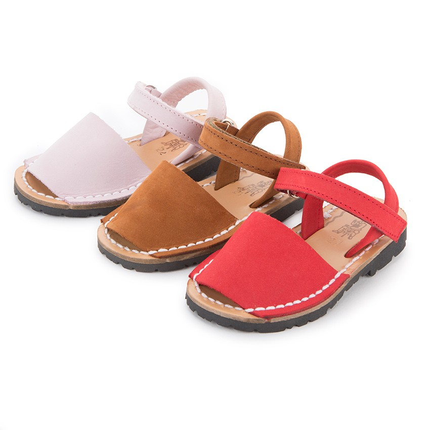 Sandales Avarcas Nubuck avec à scratch pour Enfant