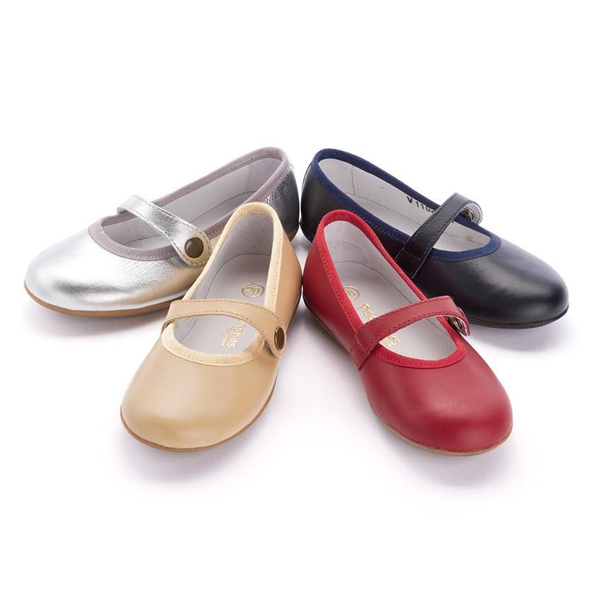 Chaussures à boucle Fille Cuir Couleurs