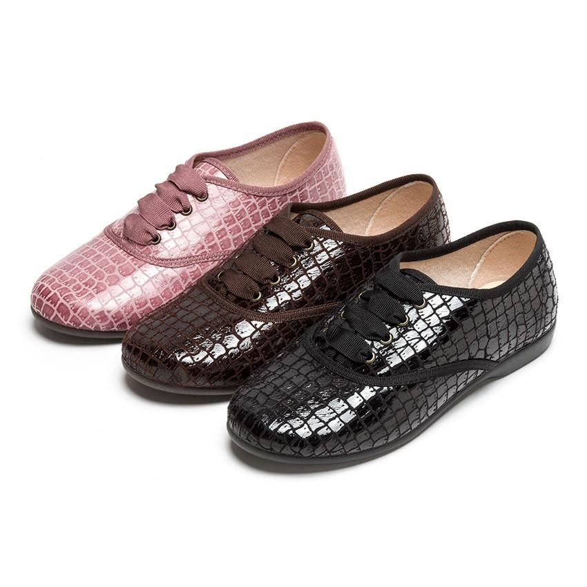 Chaussures Oxford Fille et Femme – Imitation Croco