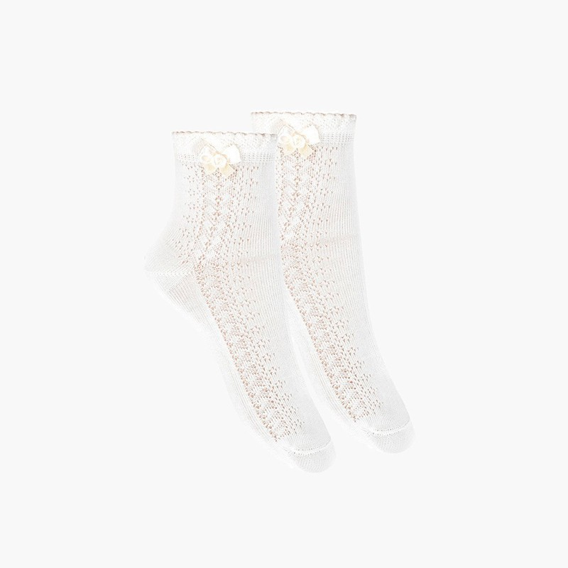 Chaussettes élégantes ajourées avec nœud