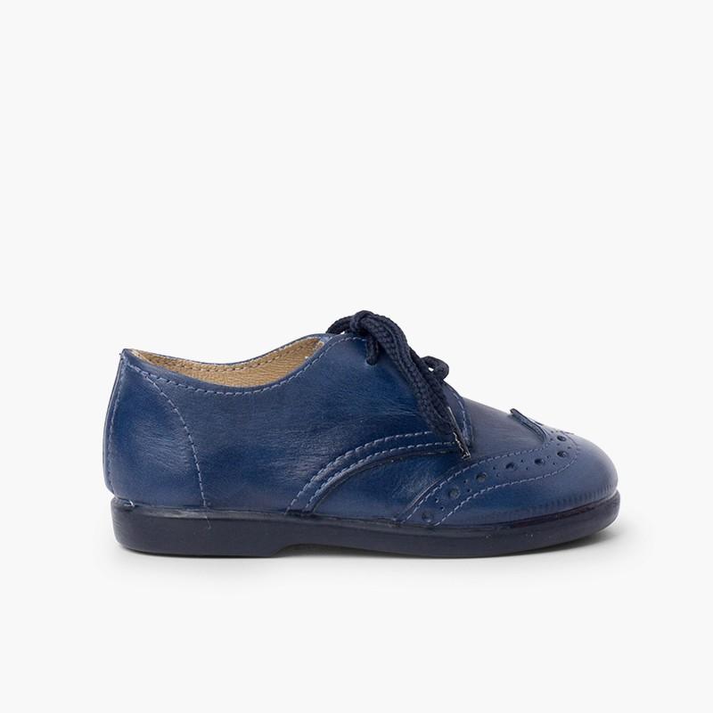 Chaussures blucher piquées garçon