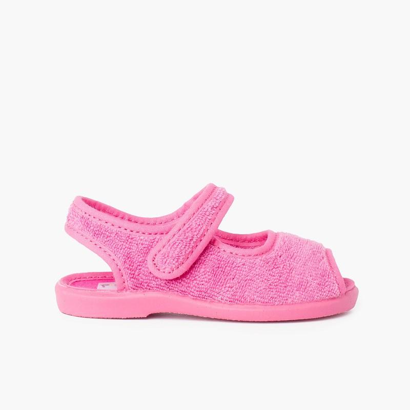 Chaussons Sandale en tissue serviette
