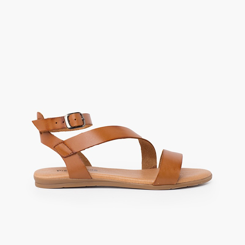 Boucle de bracelet de sandale en cuir pour fille et femme