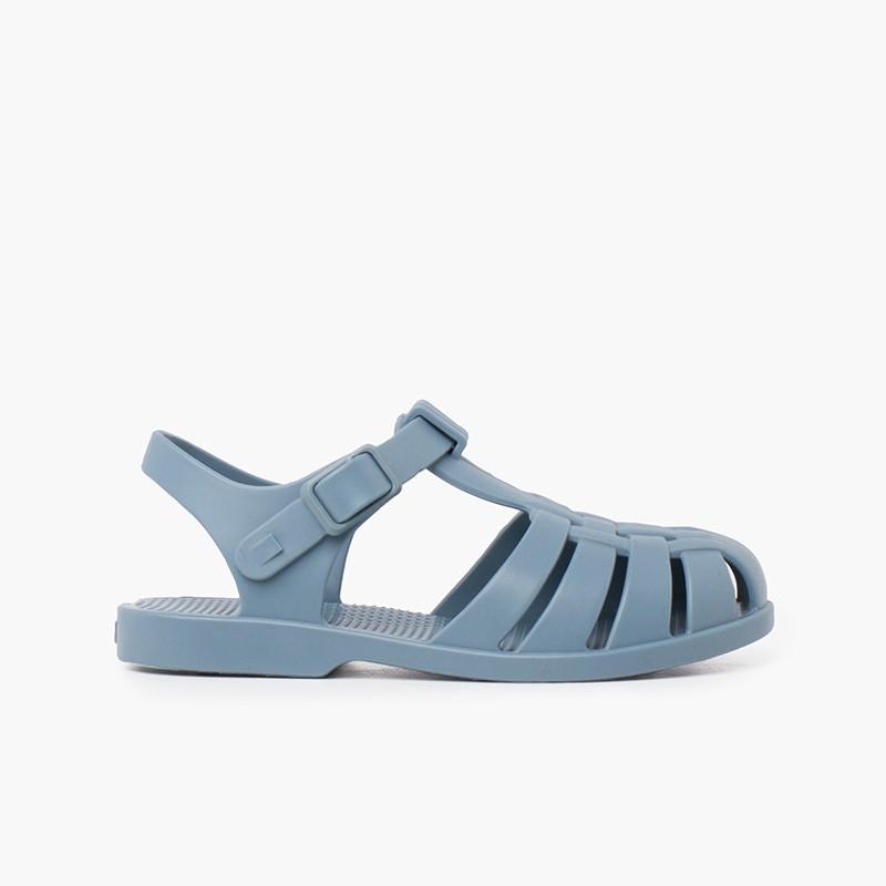 Sandales pour enfants avec fermoir à boucle aux couleurs poussiéreuses
