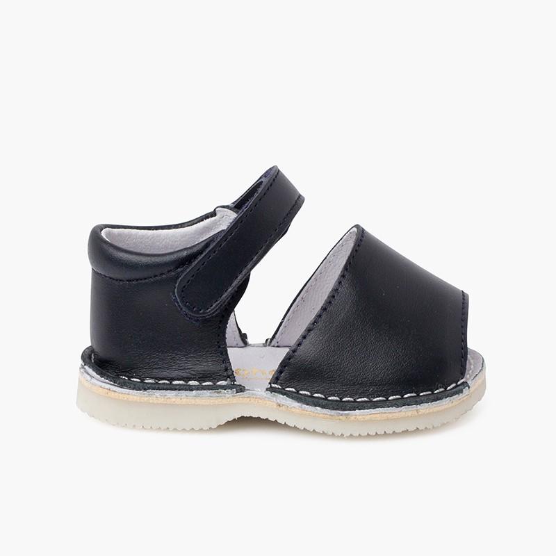 Sandales Avarcas bébé cuir Bande adhérente
