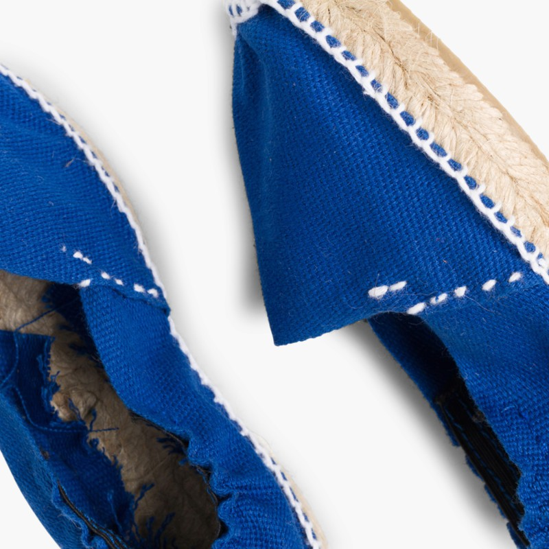 Espadrilles avec élastique pour Enfant Bleu Moyen