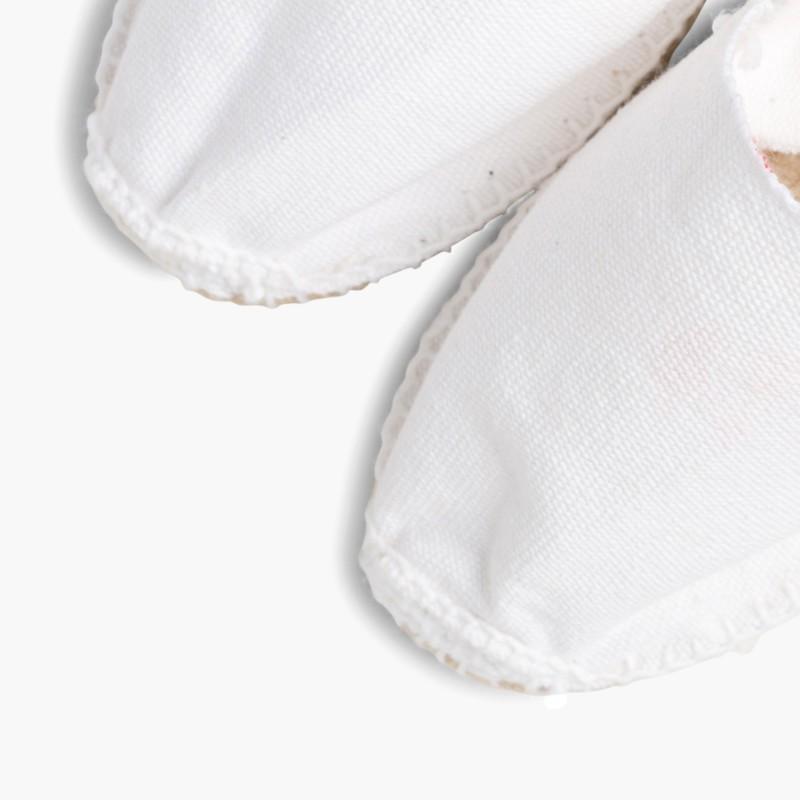 Espadrilles avec élastique pour Enfant Blanc