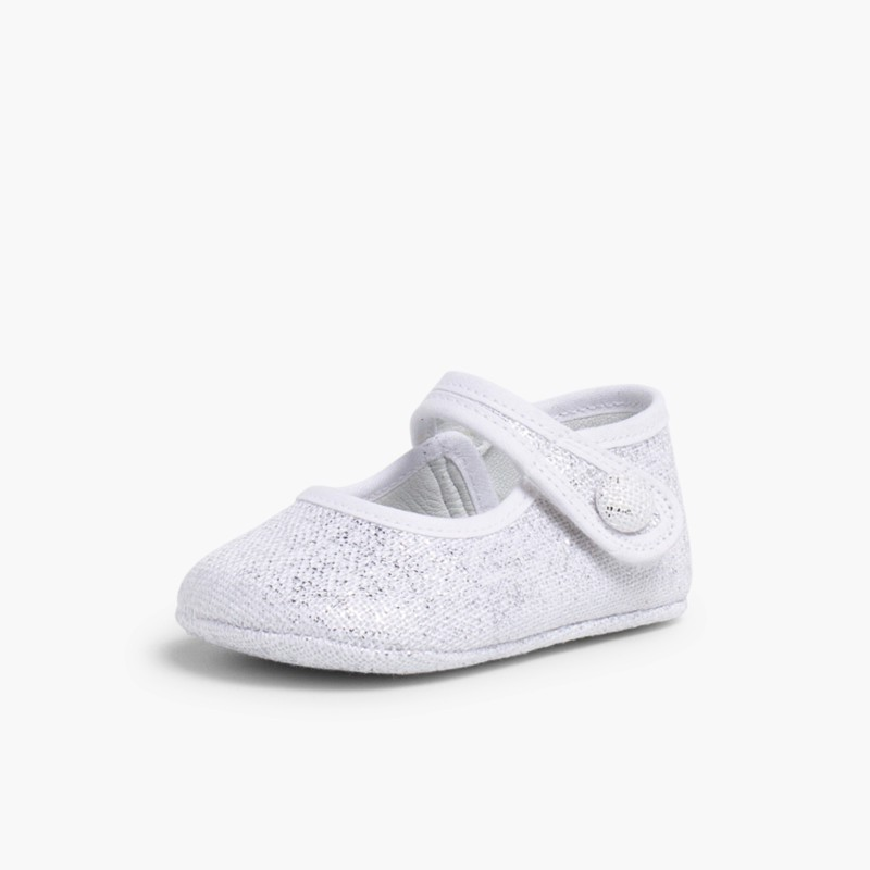 Babies pour b�b� en lin avec velcro Blanc