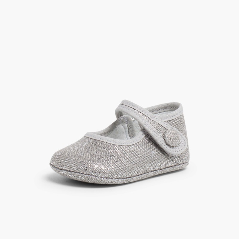 Babies pour b�b� en lin avec velcro Gris