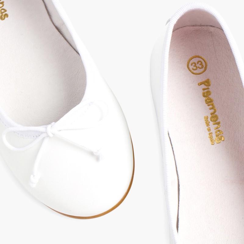 Ballerines de C�r�monie en cuir pour Fille Blanc
