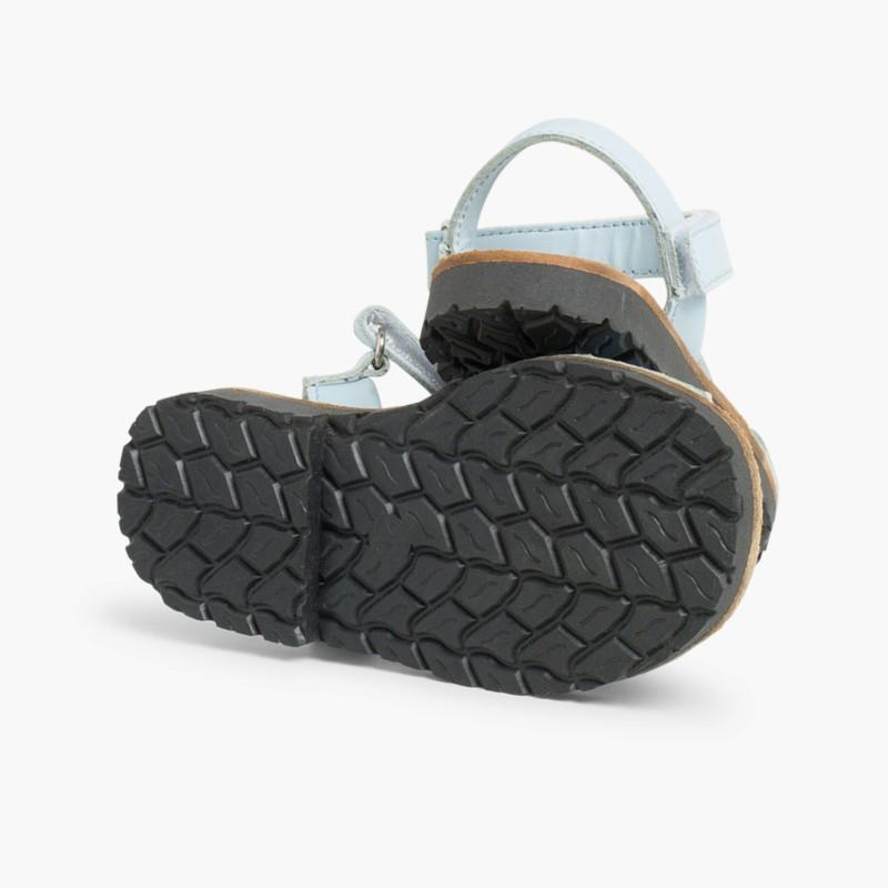 Sandale Avarca Enfants Bleu Clair