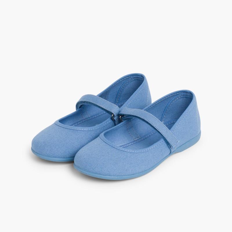 Babies Bleu Cobalt �� boucle et Velcro Fin