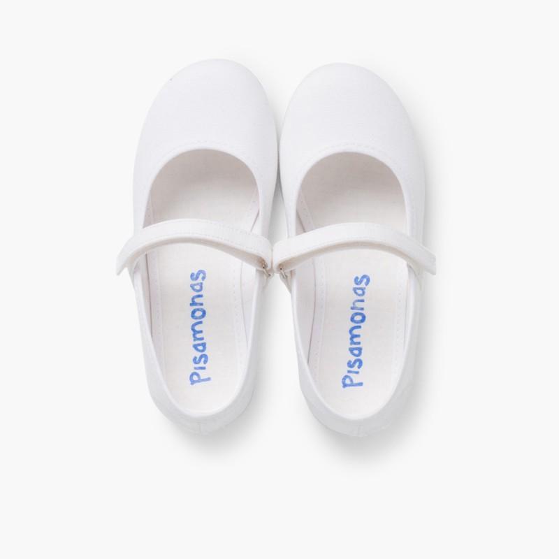 Babies Blanche �� boucle et Velcro Fin