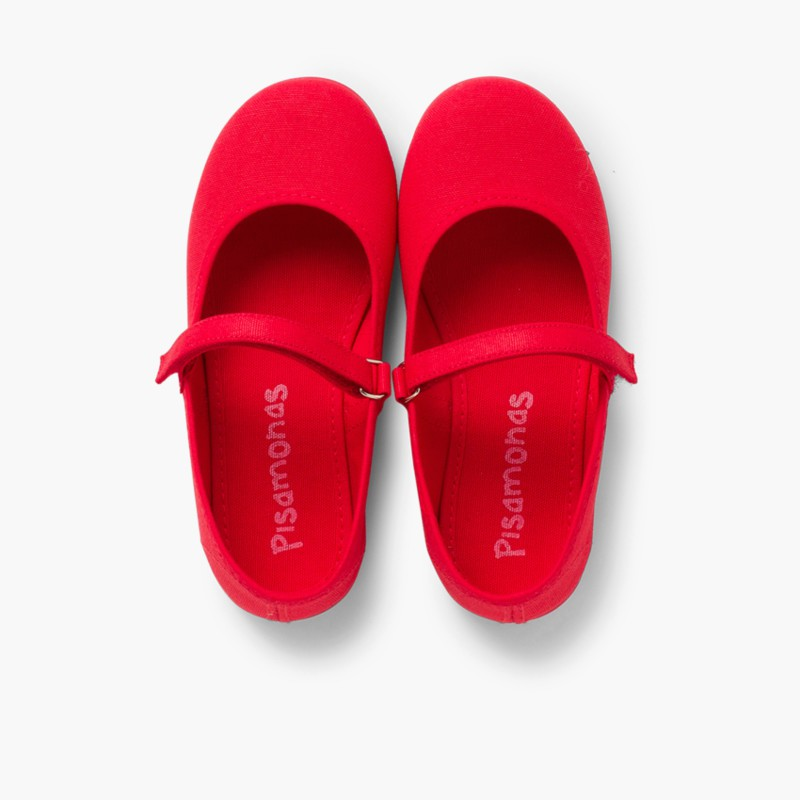 Babies Rouge �� boucle et Velcro Fin