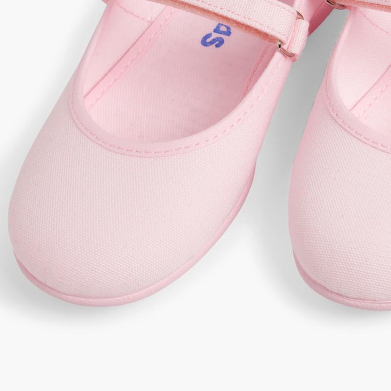 Babies Rose �� boucle et Velcro Fin