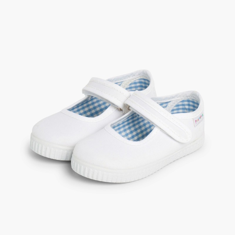 Chaussures Babies Fille �� scratch style basket Blanc