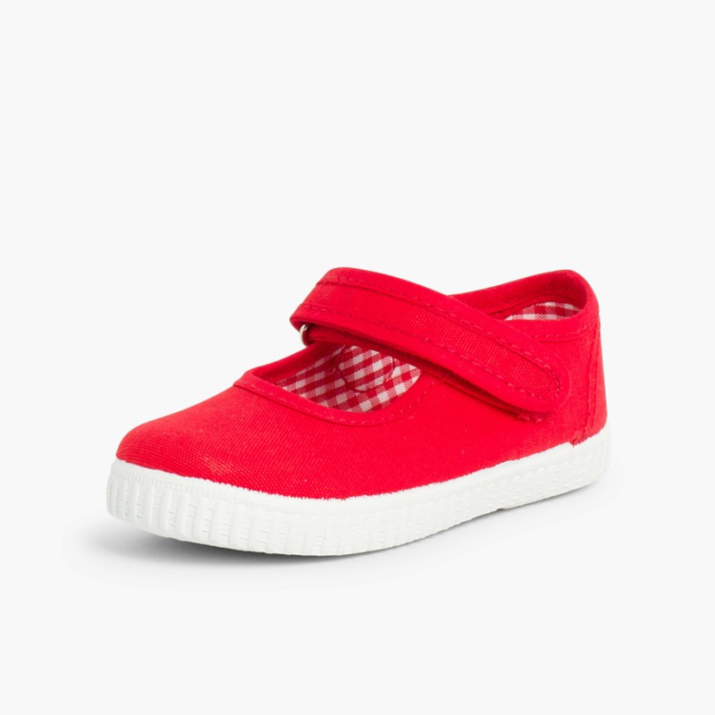 Chaussures Babies Fille �� scratch style basket Rouge