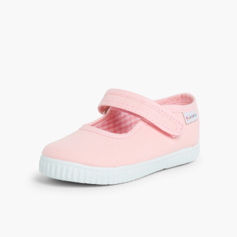 Chaussures Babies Fille �� scratch style basket Rose