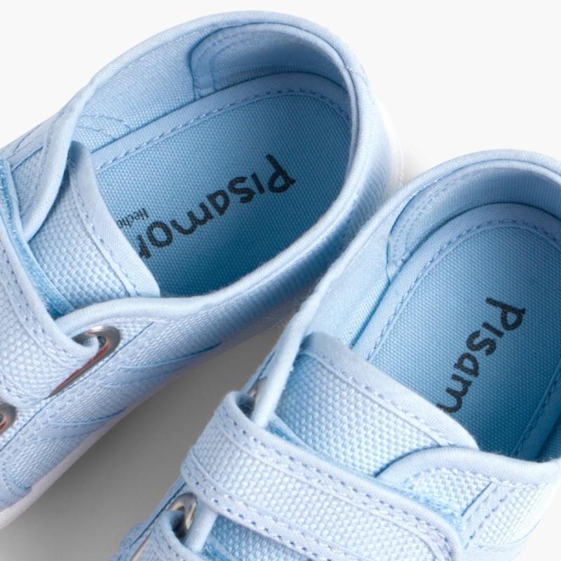 Baskets en Toile avec Scratchs pour Enfant Bleu
