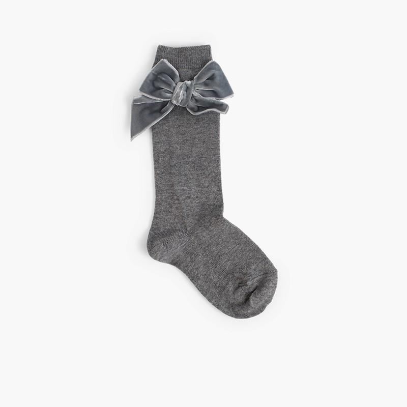 Chaussettes pour enfants avec nœud en velours