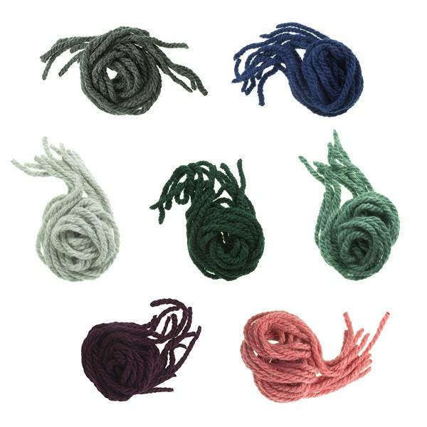 Attaches pour les cheveux des filles en laine unicolore