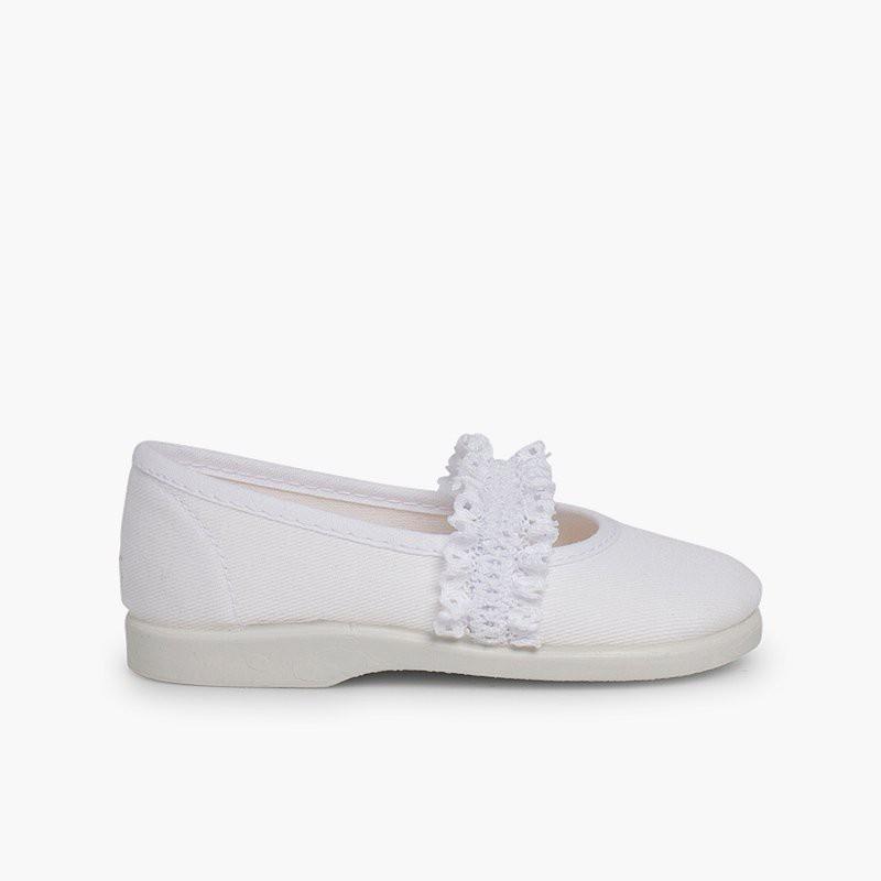 Chaussures babies Fille Bande Élastique Dentelle