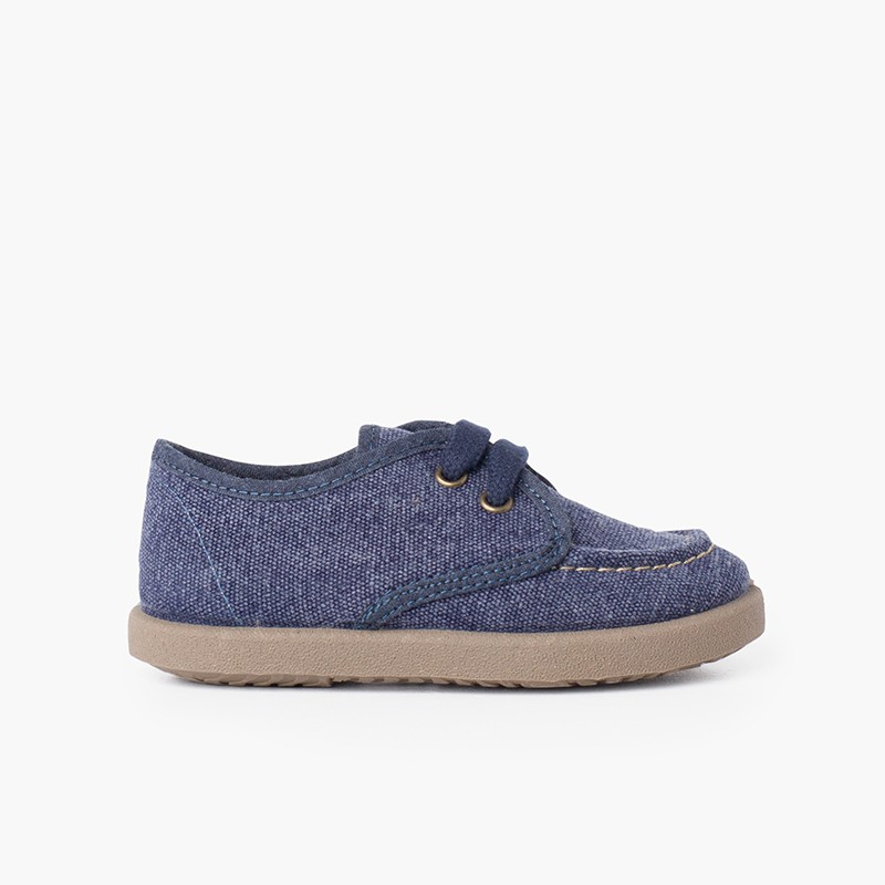 Chaussures Bateau Toile Casual Semelle Sport