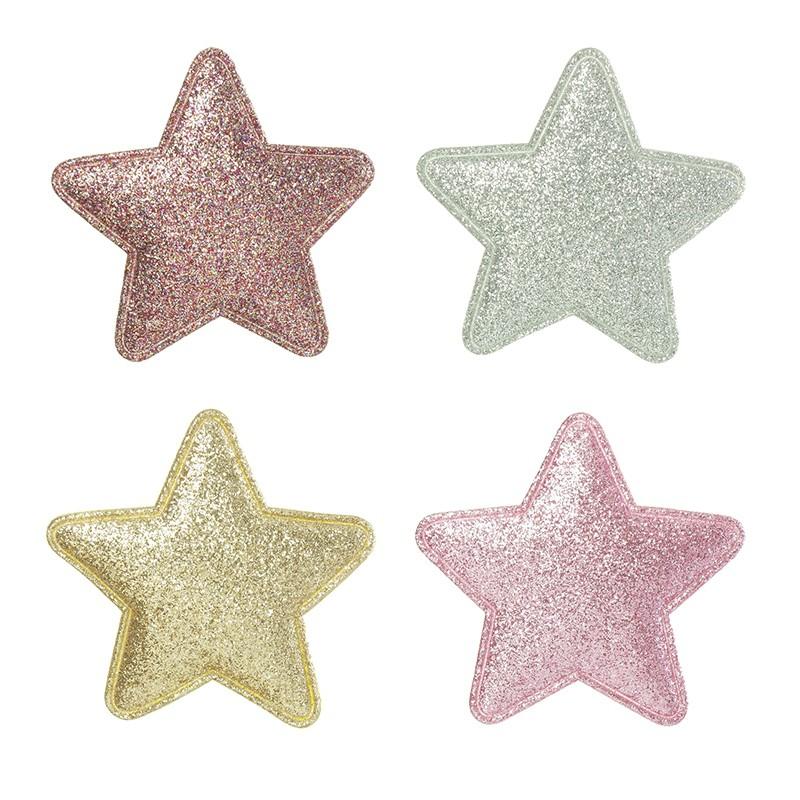 Barrette pour Cheveux Fille avec Étoile Glitter