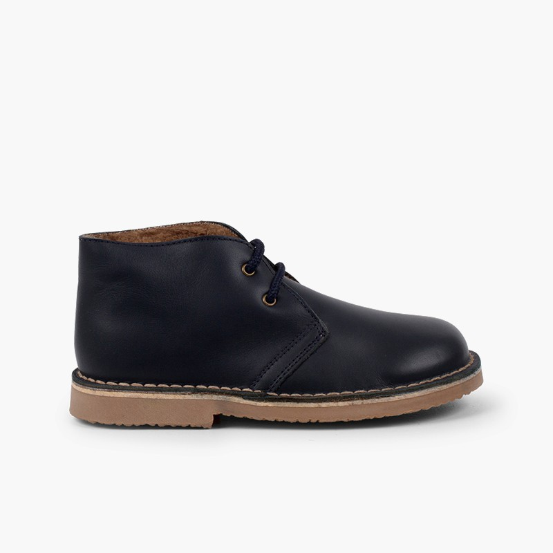 Bottines Cuir Lacets Doublure Type Mouton