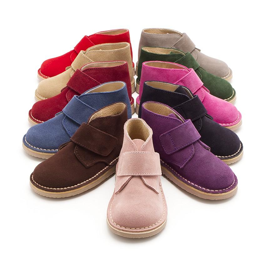 Suède Desert Boots Bottines Chukka à à scratch pour Enfants