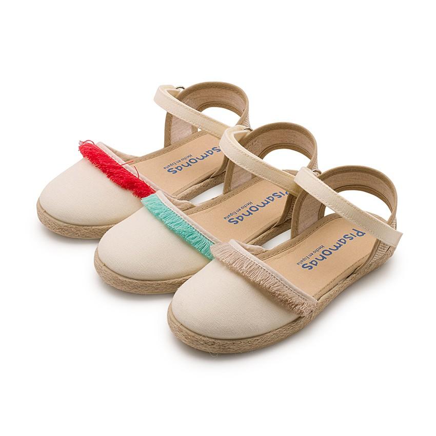 Sandales à Franges Style Valenciennes Fermeture à scratch