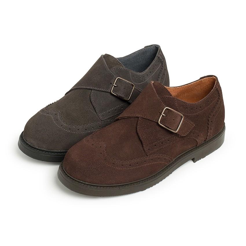 Chaussure Blucher Cuir Boucle