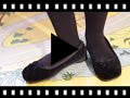 Video from Ballerines pour enfants et adultes en velours rembourrées