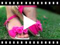 Video from Sandales en toile à boucle avec ruban