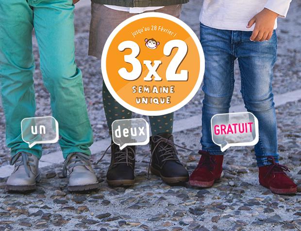 3x2 Bottes Garçon
