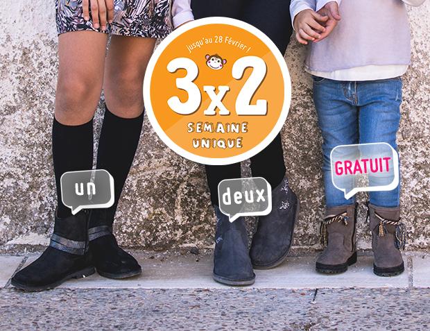 3x2 Bottes pour Fille