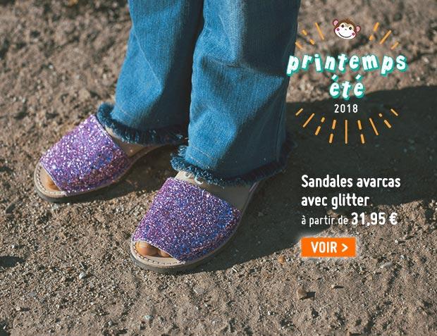 Sandales Avarcas Glitter Fille & Femme
