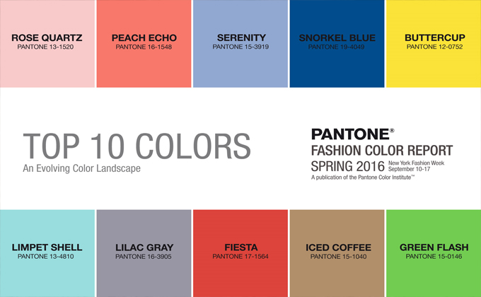 Fashion Color Report Pantone