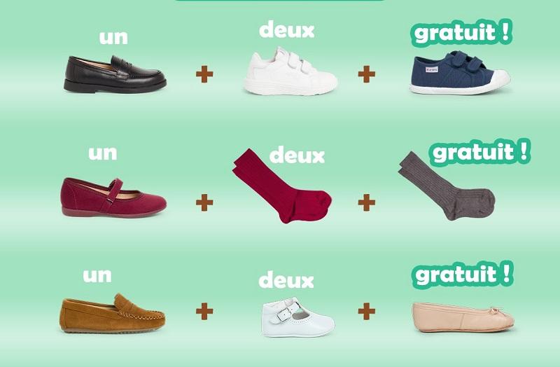 Chaussures pour les garçons 3x2