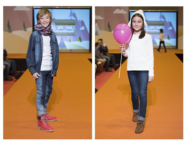 Desfile zapatos niña y niño