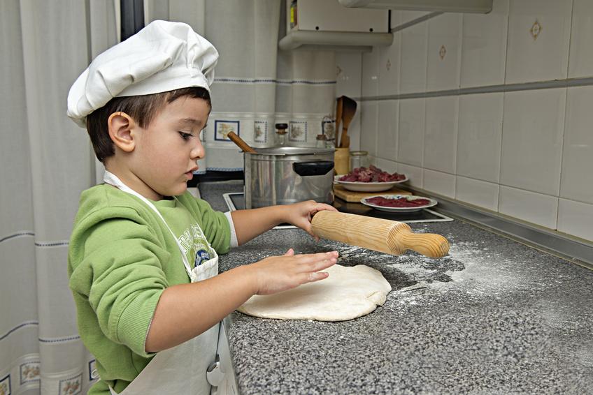 Cocina con niños en fin de semana