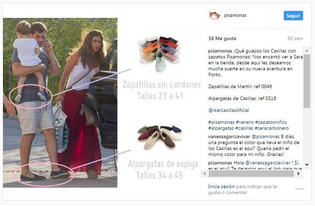 Instagram pisamonas sara carbonero