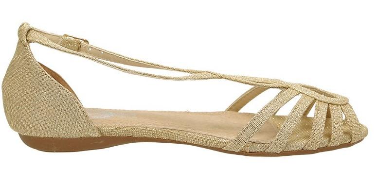 Sandalias oro para niñas