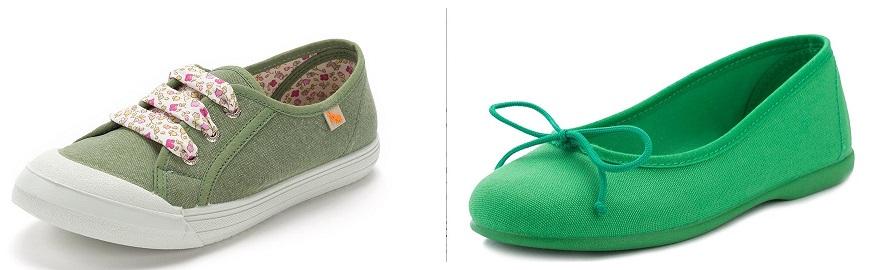 Cromoterapia Verde en Zapatos